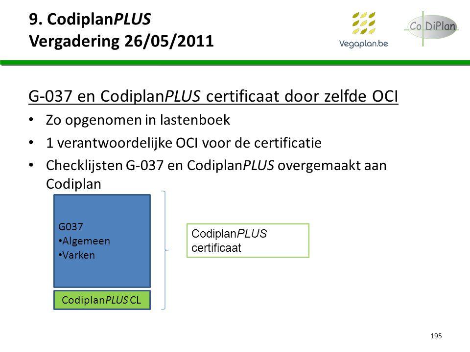 9. CodiplanPLUS Vergadering 26/05/2011