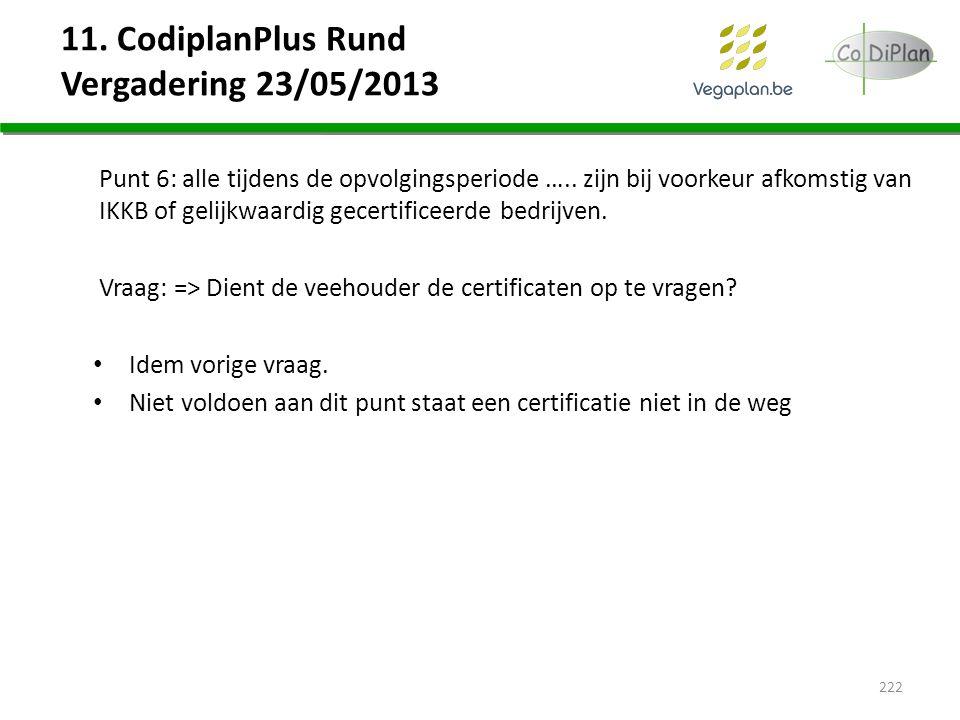 11. CodiplanPlus Rund Vergadering 23/05/2013