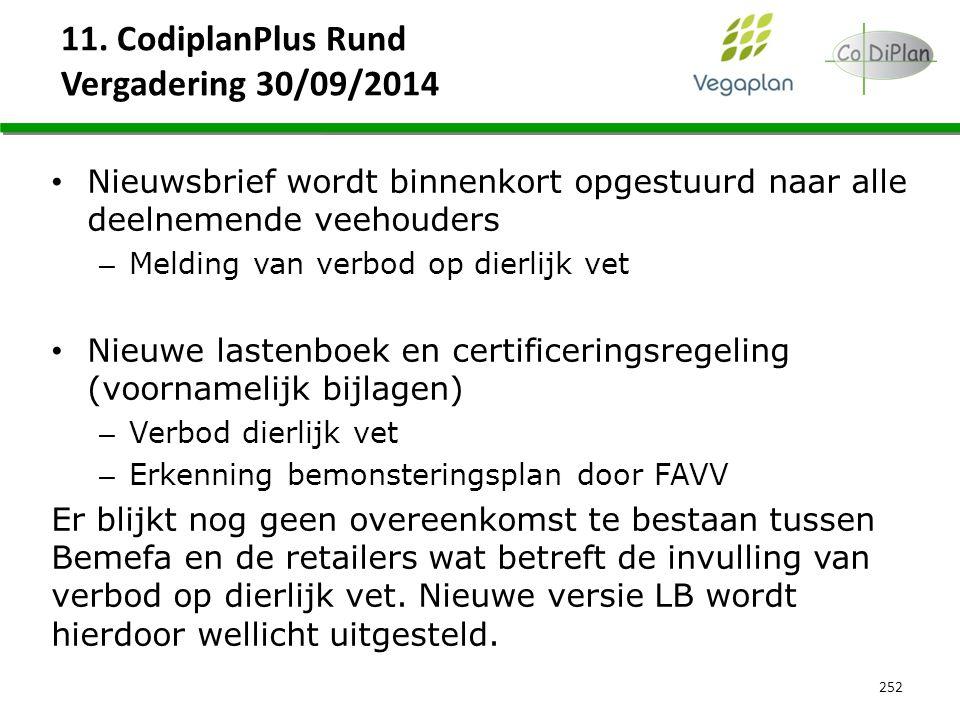 11. CodiplanPlus Rund Vergadering 30/09/2014