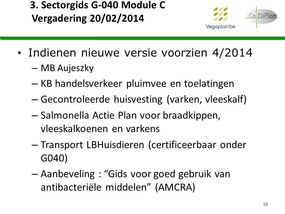 3. Sectorgids G-040 Module C Vergadering 20/02/2014