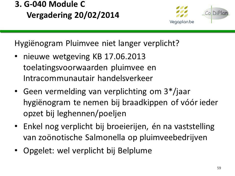 3. G-040 Module C Vergadering 20/02/2014