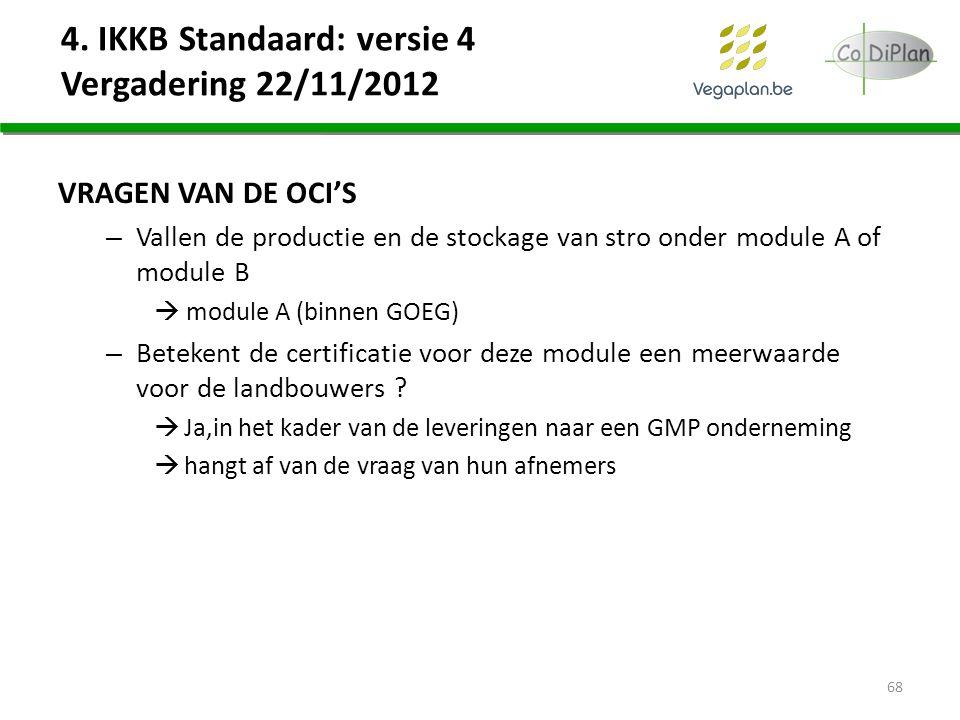 4. IKKB Standaard: versie 4 Vergadering 22/11/2012