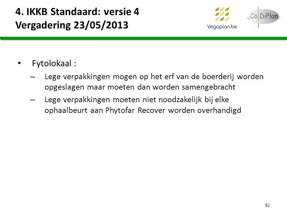 4. IKKB Standaard: versie 4 Vergadering 23/05/2013