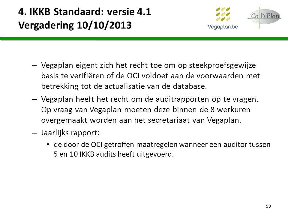 4. IKKB Standaard: versie 4.1 Vergadering 10/10/2013