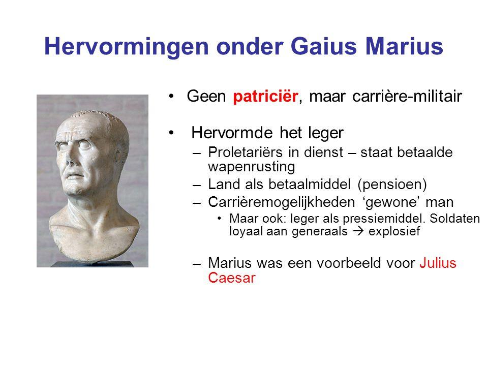 Hervormingen onder Gaius Marius