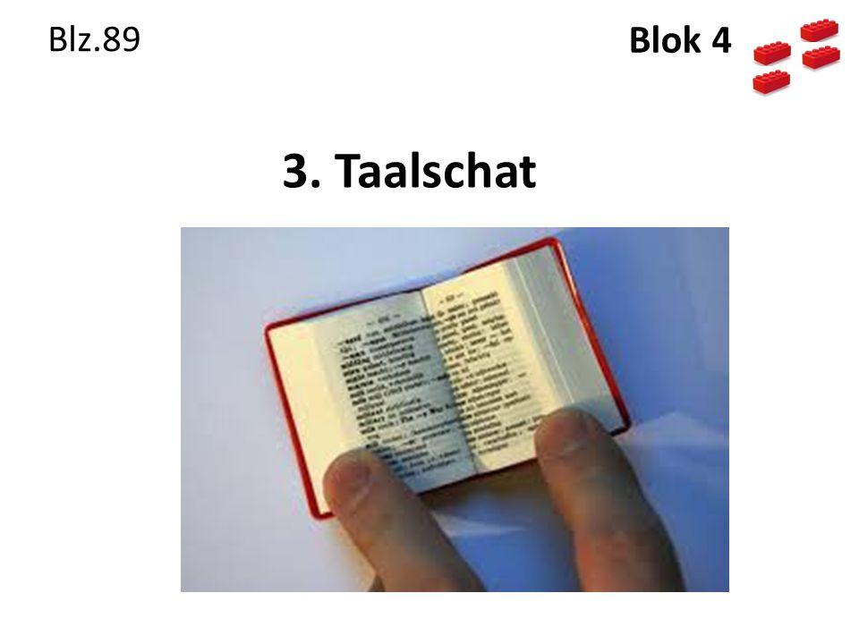 Blz.89 Blok 4 3. Taalschat