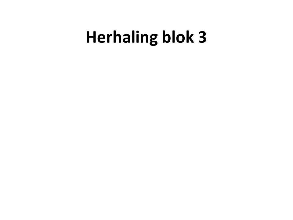 Herhaling blok 3