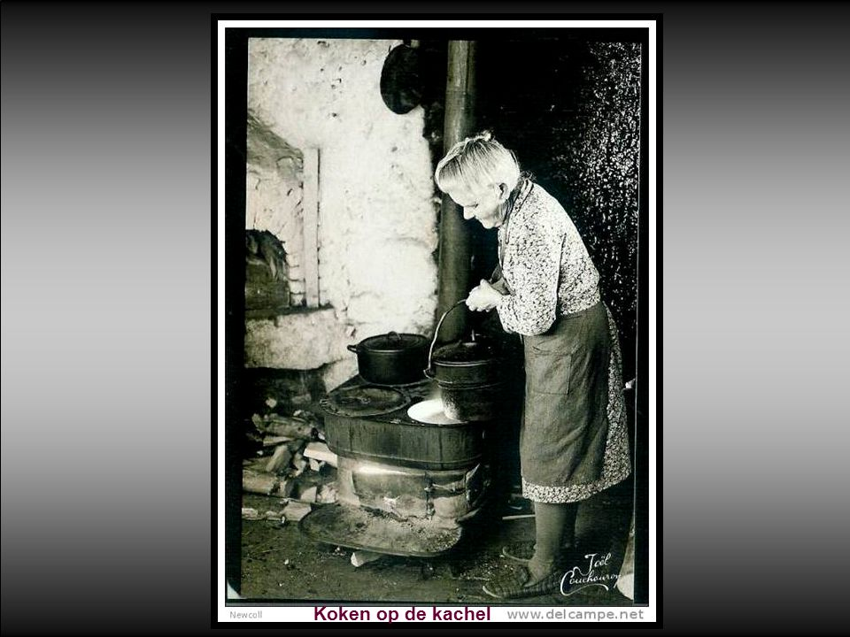 Koken op de kachel