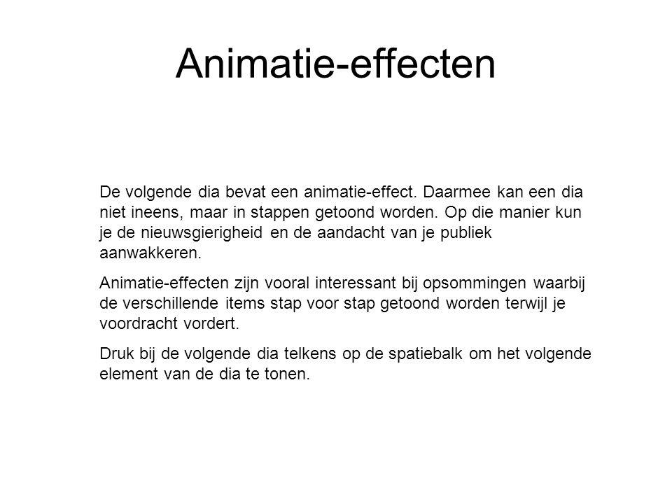 Animatie-effecten