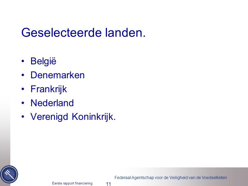 Geselecteerde landen. België Denemarken Frankrijk Nederland