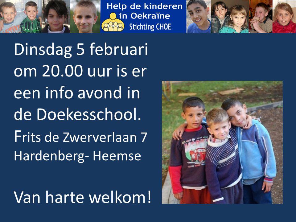 Dinsdag 5 februari om 20.00 uur is er een info avond in de Doekesschool.