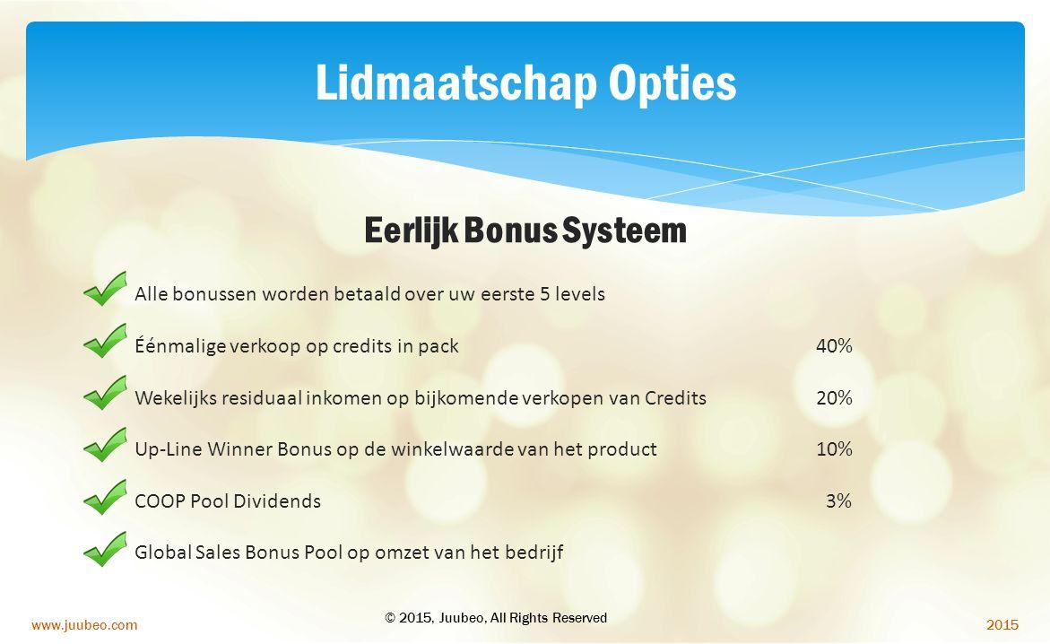 Lidmaatschap Opties Eerlijk Bonus Systeem