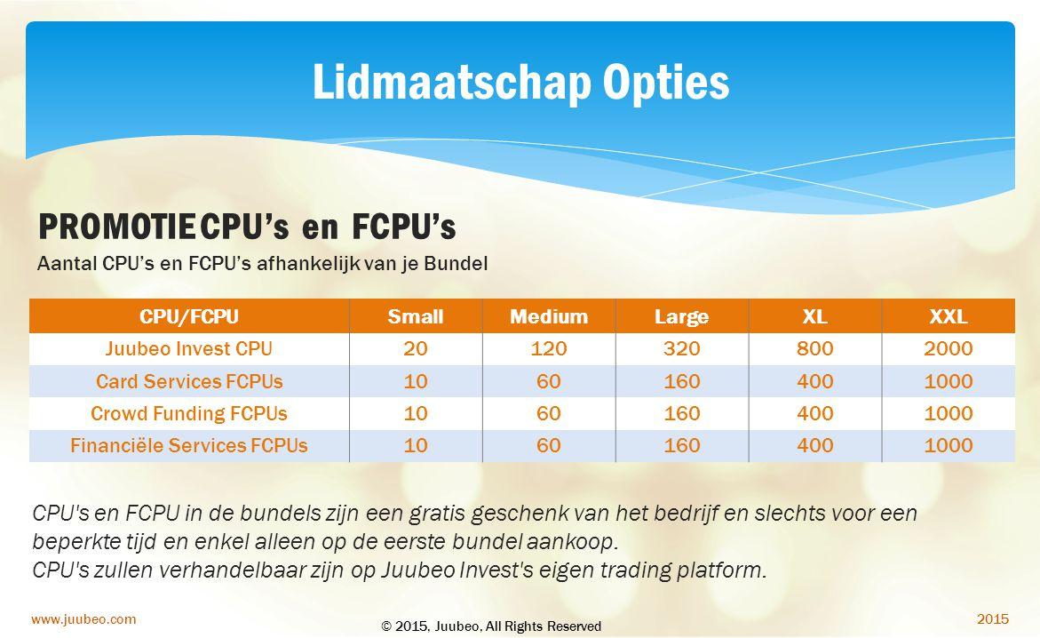 Financiële Services FCPUs