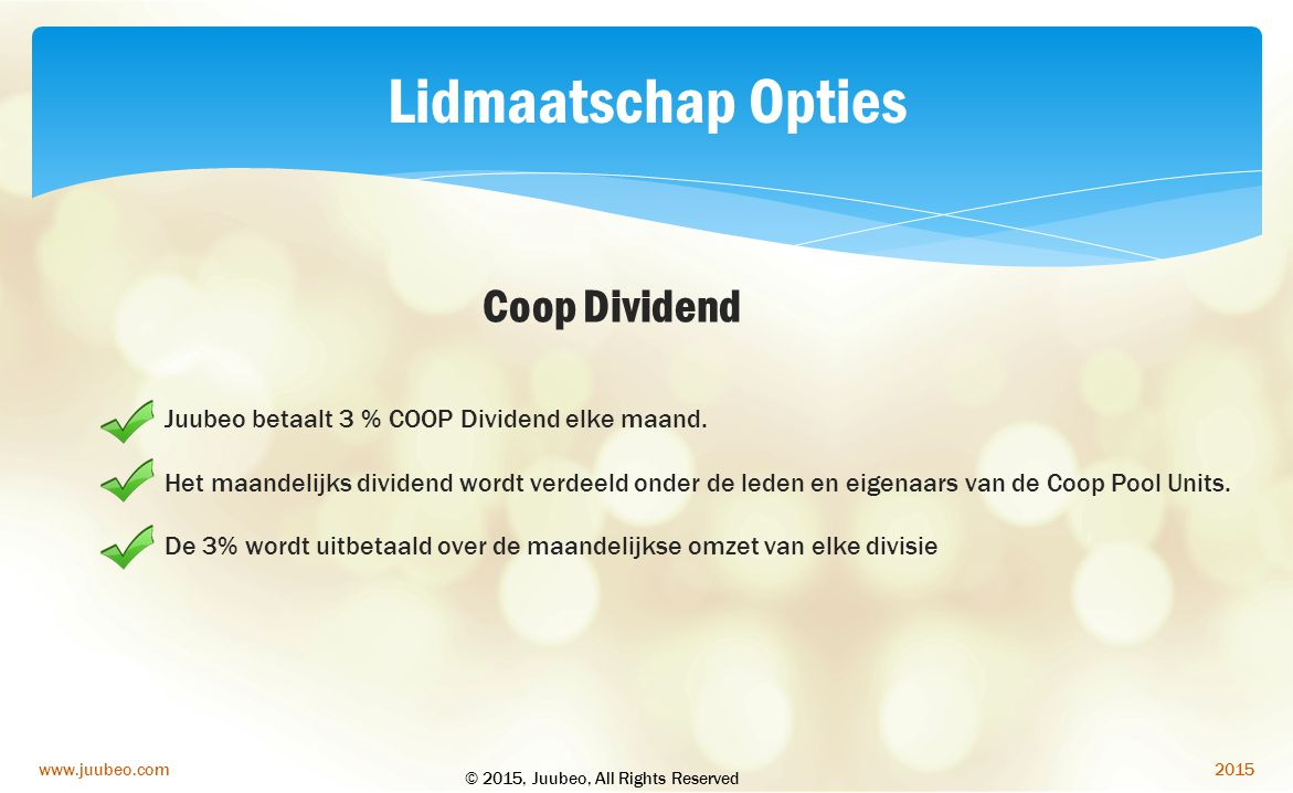 Lidmaatschap Opties Coop Dividend