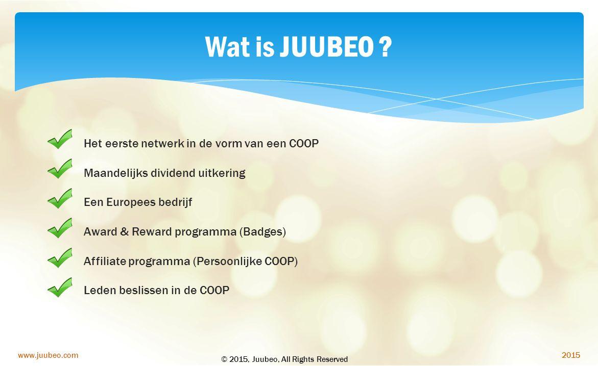 Wat is JUUBEO Het eerste netwerk in de vorm van een COOP