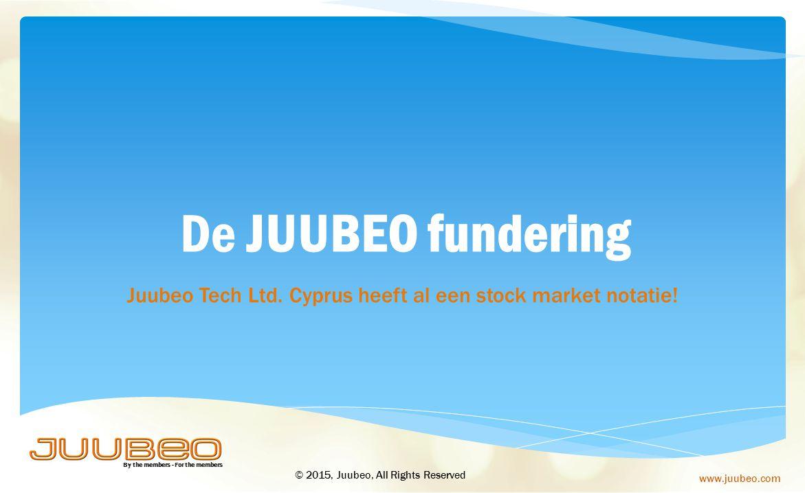 Juubeo Tech Ltd. Cyprus heeft al een stock market notatie!