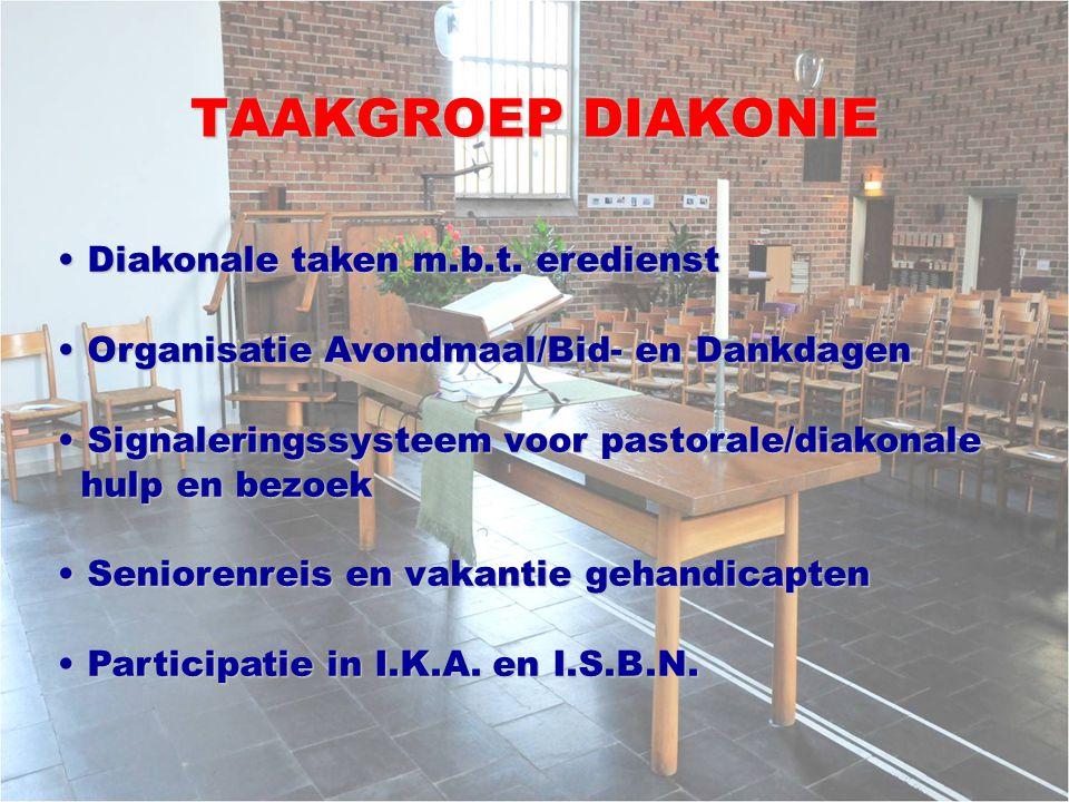 TAAKGROEP DIAKONIE Diakonale taken m.b.t. eredienst