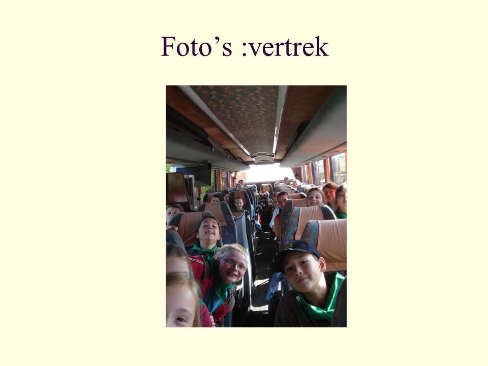 Foto's :vertrek