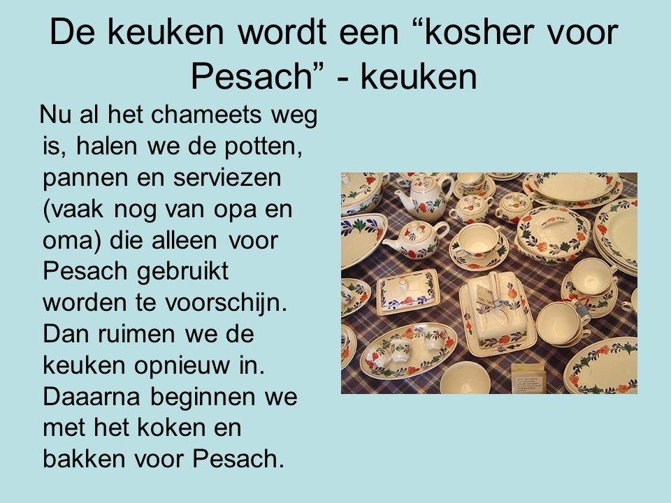 De keuken wordt een kosher voor Pesach - keuken
