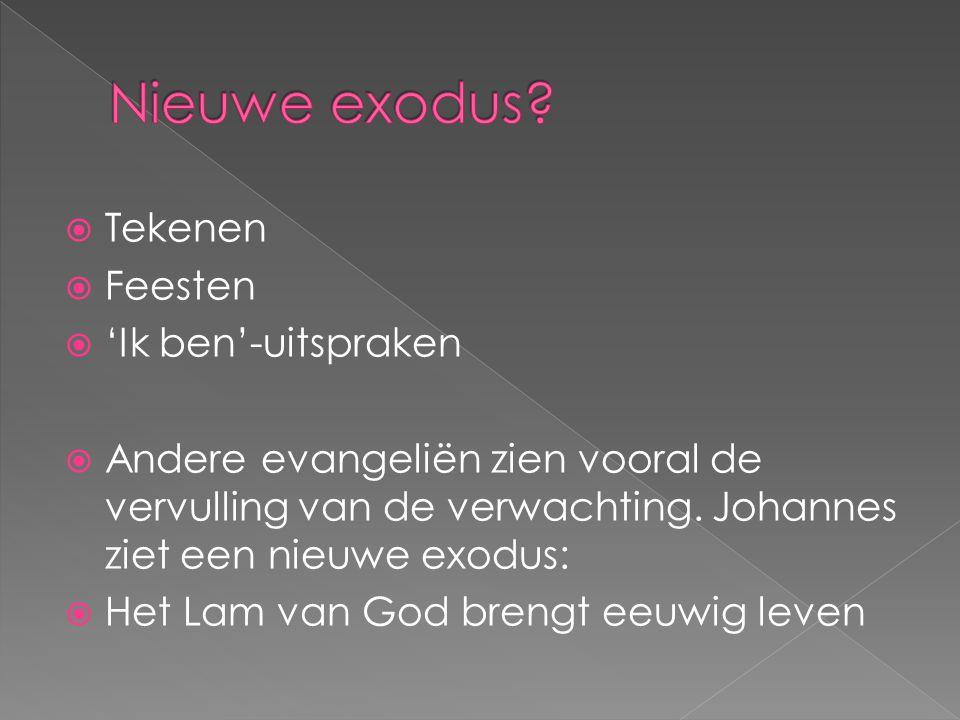 Nieuwe exodus Tekenen Feesten 'Ik ben'-uitspraken