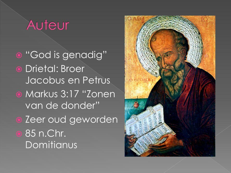 Auteur God is genadig Drietal: Broer Jacobus en Petrus
