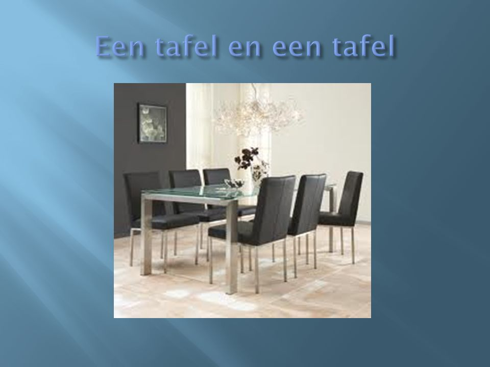 Een tafel en een tafel