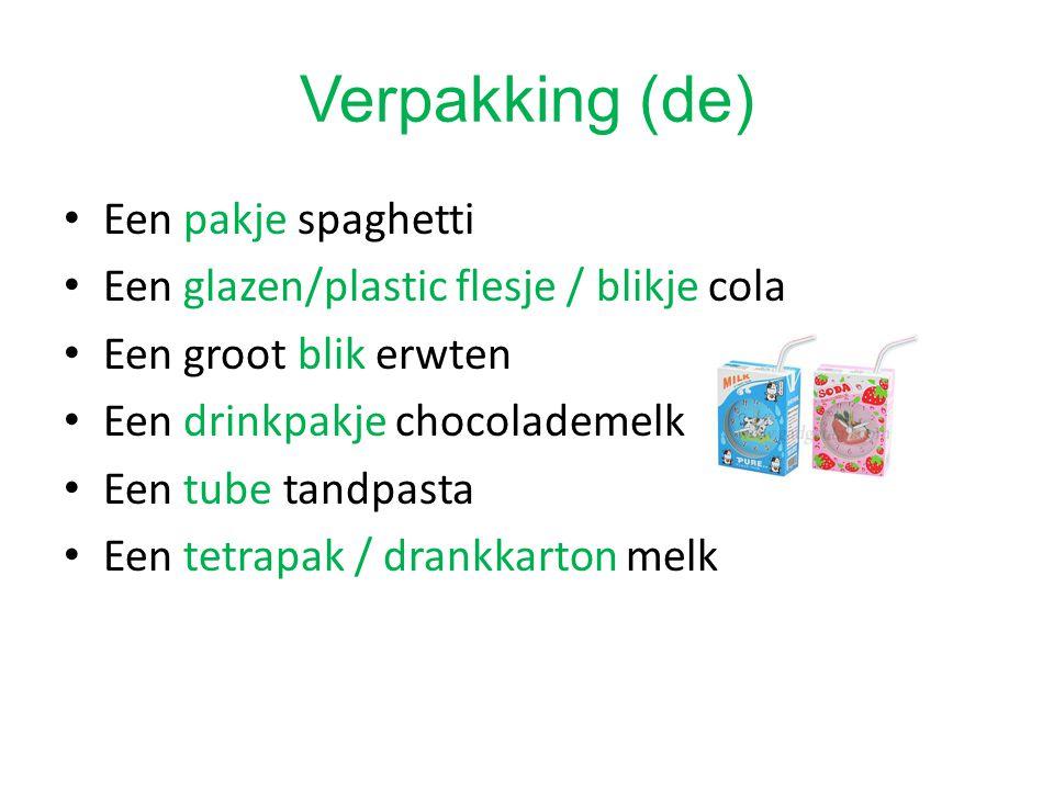 Verpakking (de) Een pakje spaghetti