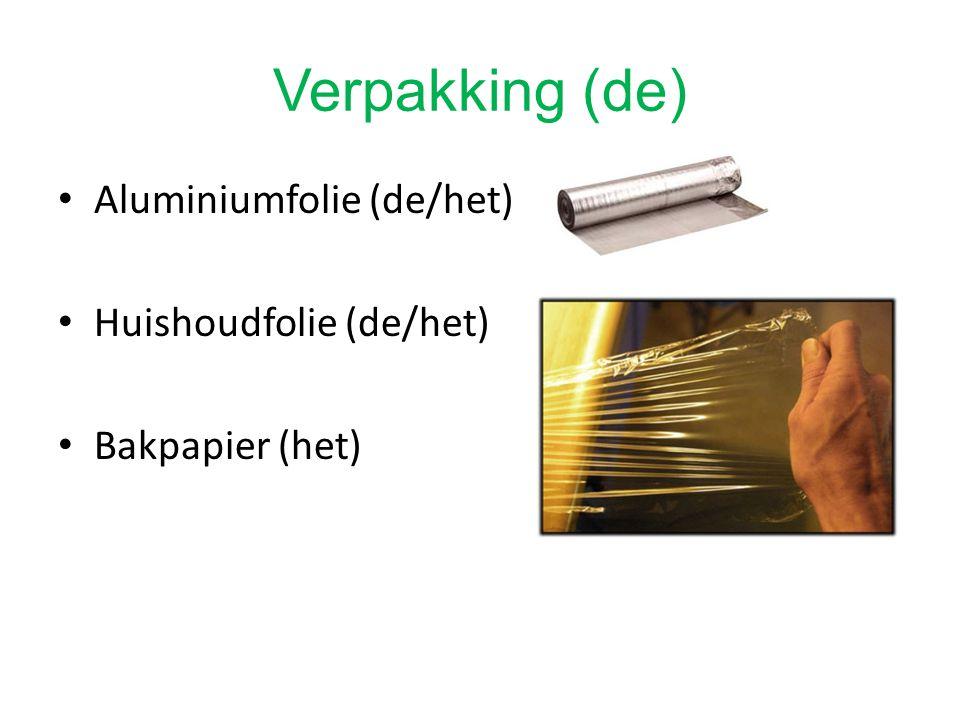 Verpakking (de) Aluminiumfolie (de/het) Huishoudfolie (de/het)
