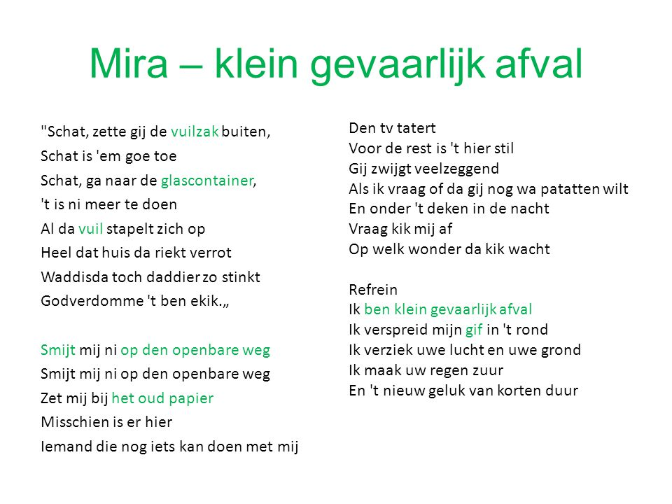 Mira – klein gevaarlijk afval