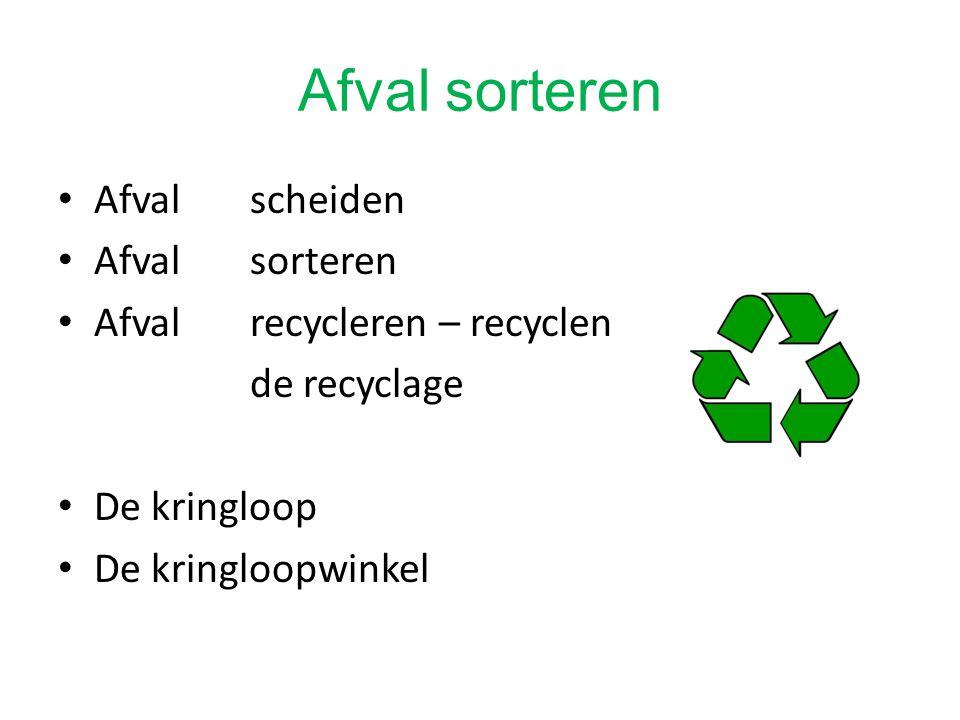 Afval sorteren Afval scheiden Afval sorteren