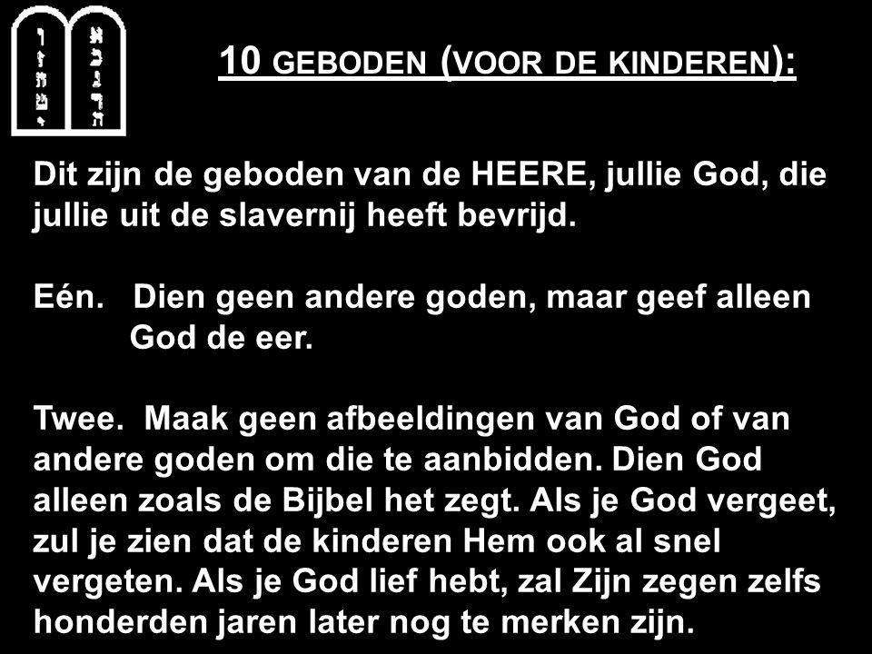 10 geboden (voor de kinderen):