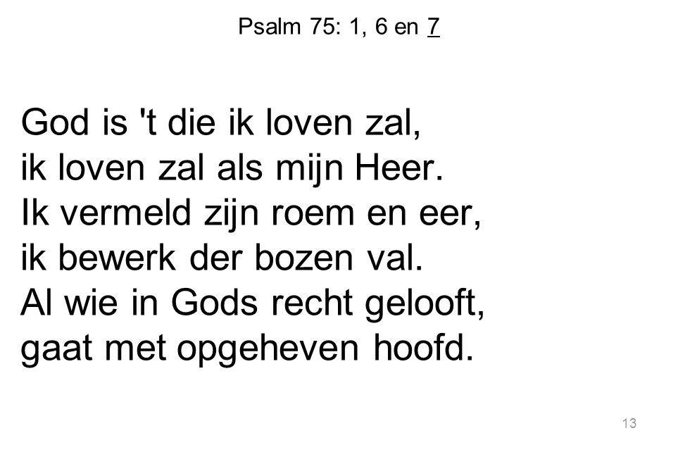 Psalm 75: 1, 6 en 7