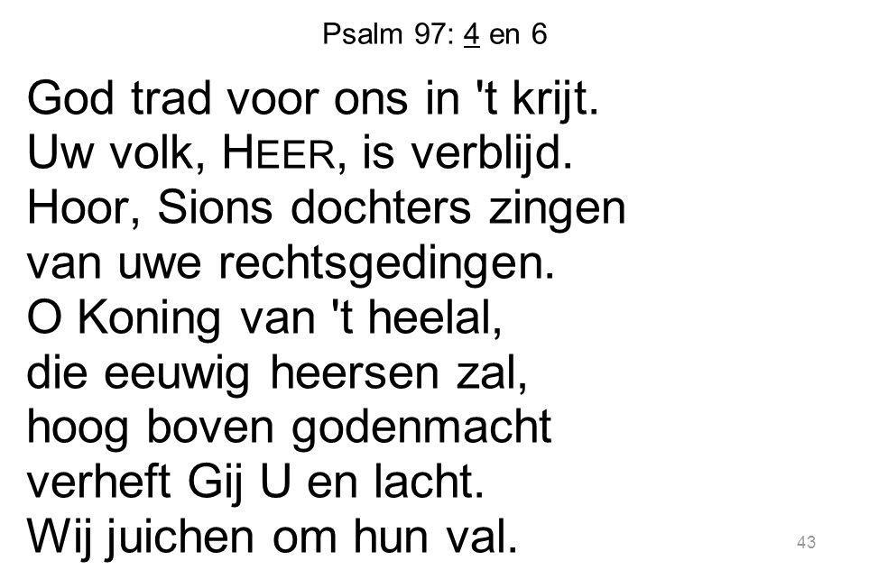 Psalm 97: 4 en 6