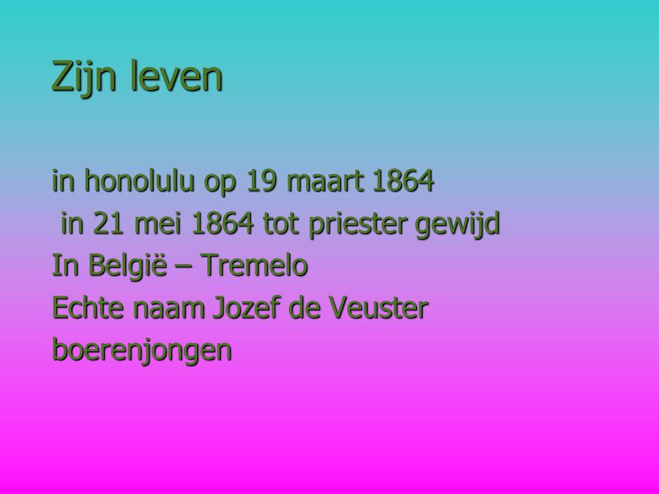 Zijn leven in honolulu op 19 maart 1864