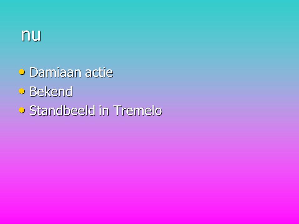 nu Damiaan actie Bekend Standbeeld in Tremelo