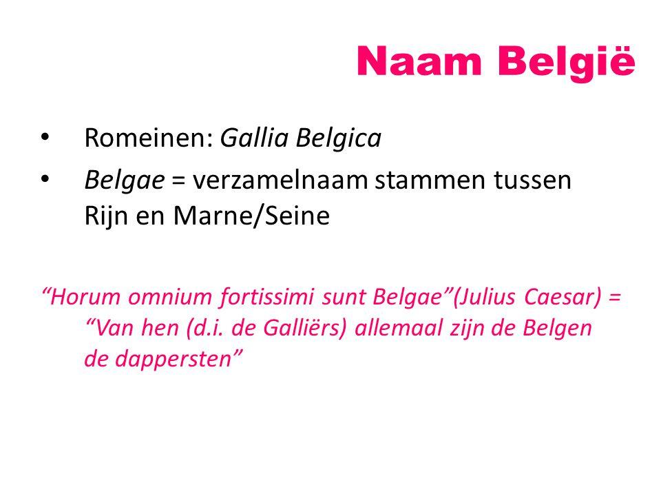 Naam België Romeinen: Gallia Belgica