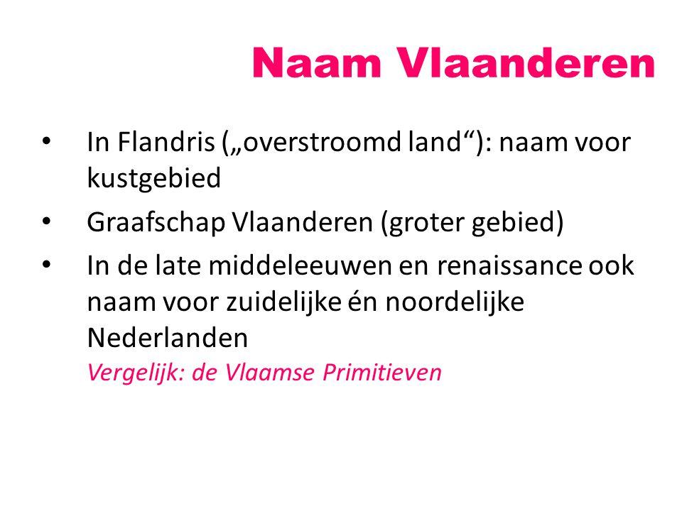 """Naam Vlaanderen In Flandris (""""overstroomd land ): naam voor kustgebied"""