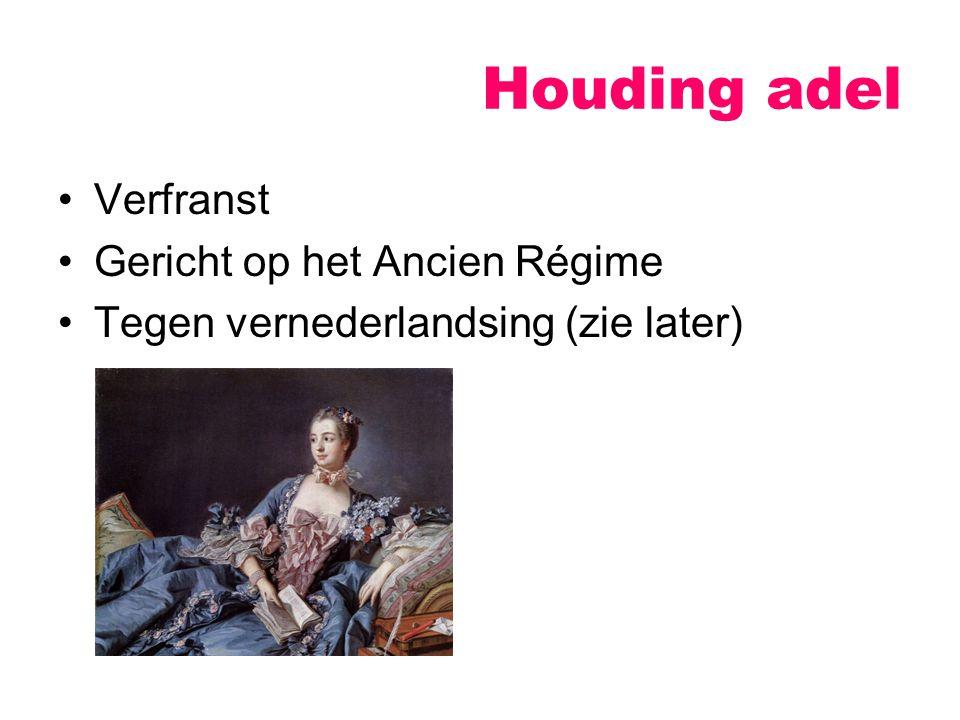 Houding adel Verfranst Gericht op het Ancien Régime