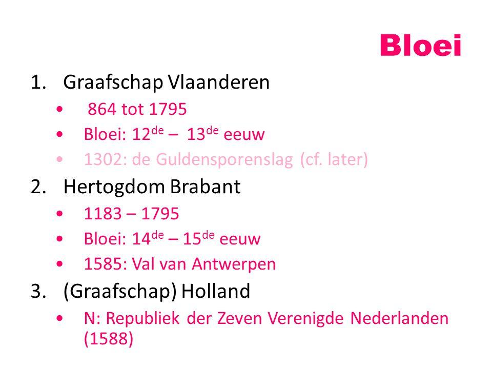 Bloei Graafschap Vlaanderen Hertogdom Brabant (Graafschap) Holland