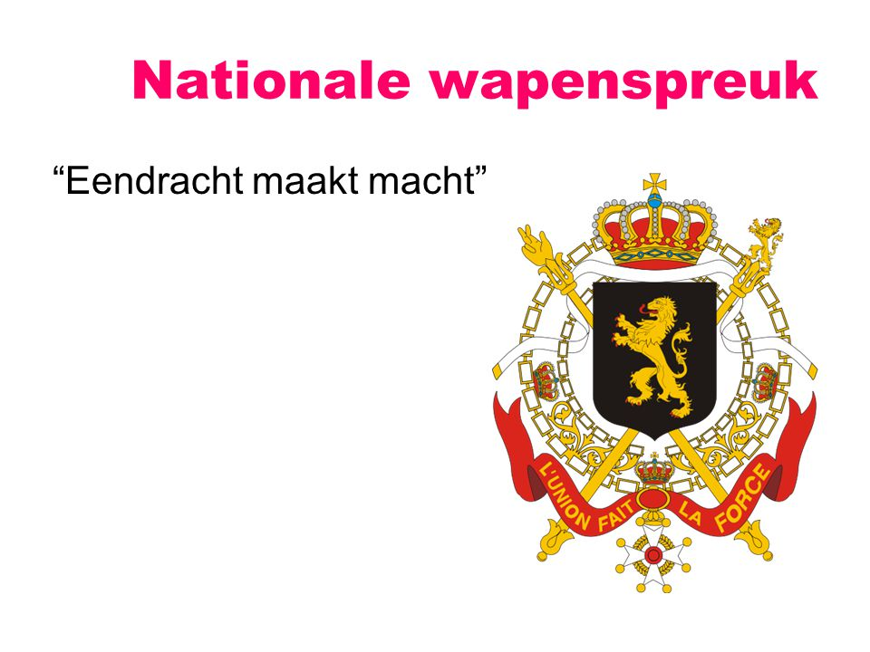 Nationale wapenspreuk