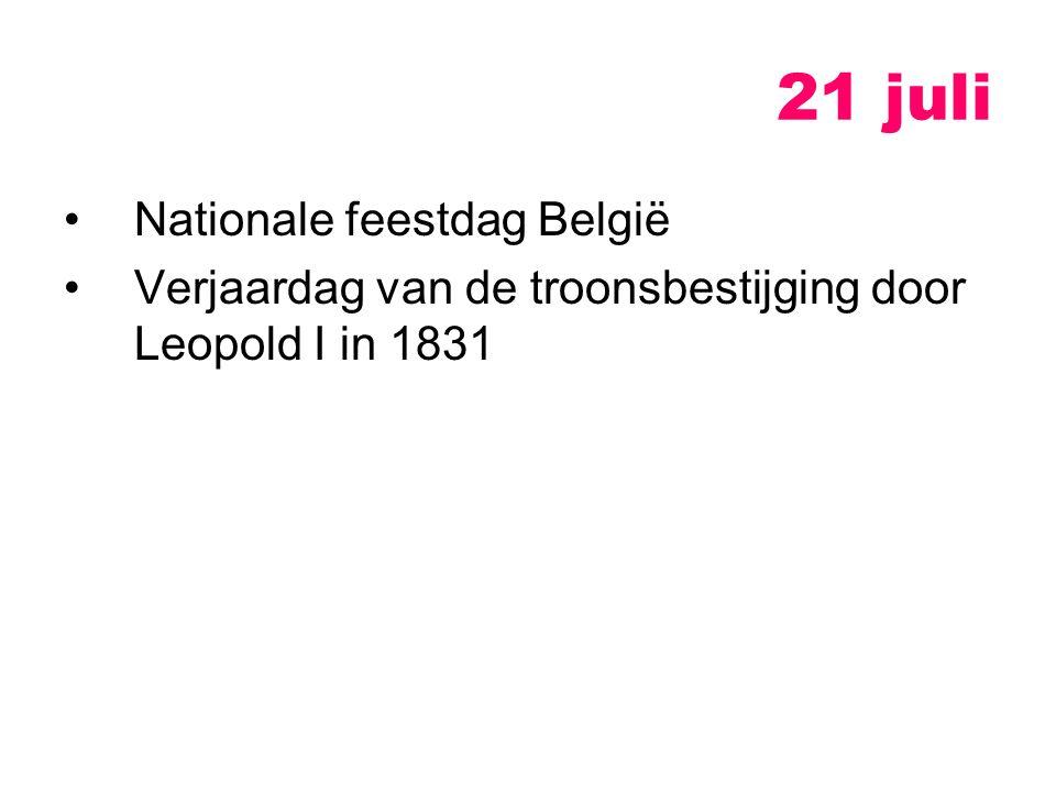 21 juli Nationale feestdag België