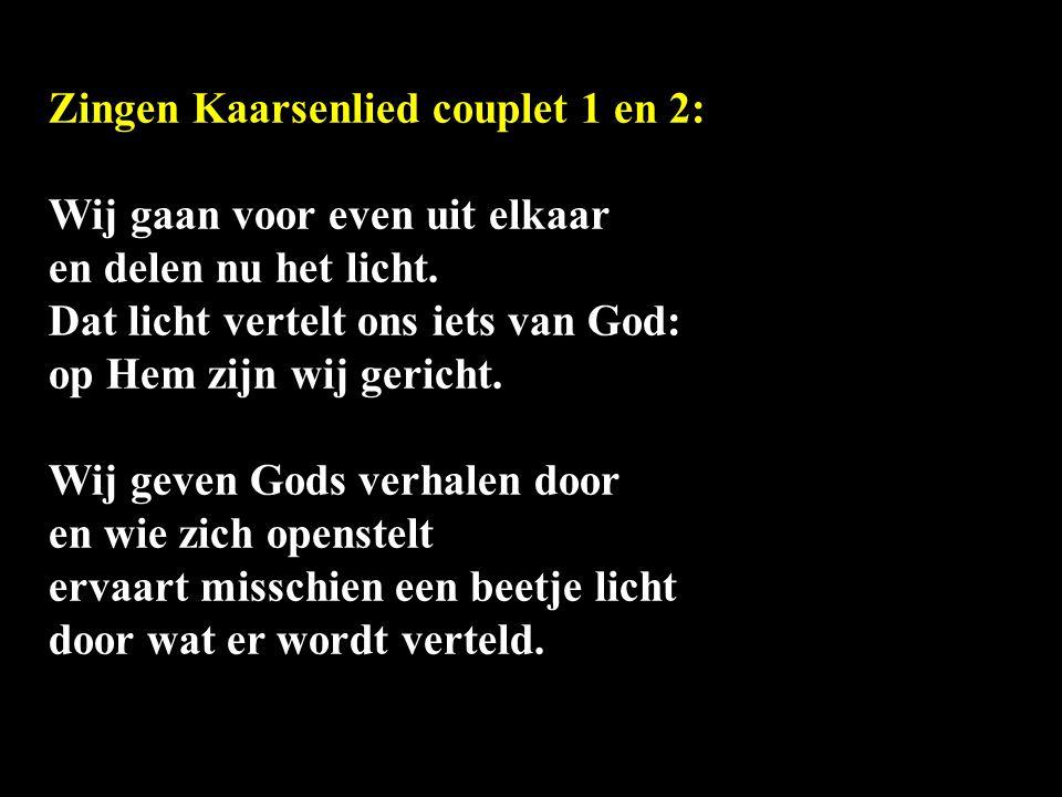 Zingen Kaarsenlied couplet 1 en 2: