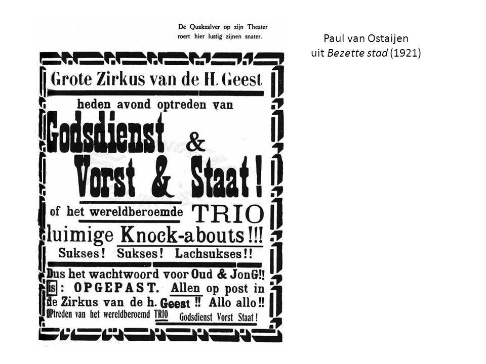 Paul van Ostaijen uit Bezette stad (1921)