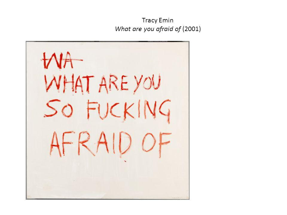 Tracy Emin What are you afraid of (2001)‏