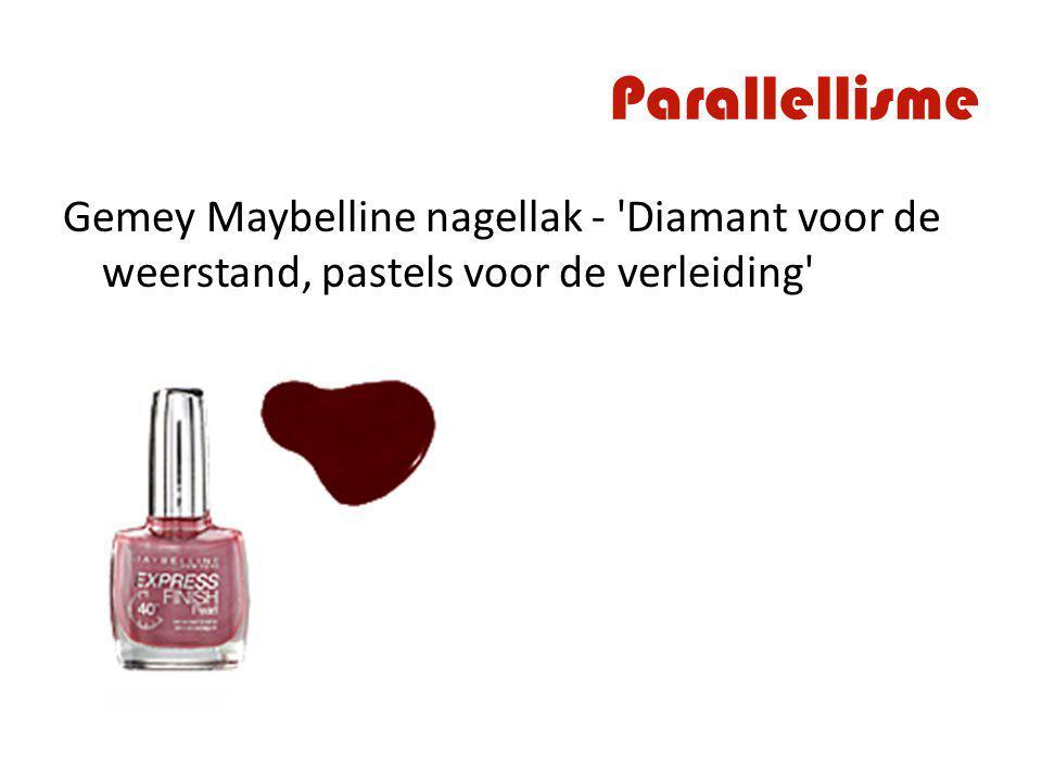 Parallellisme Gemey Maybelline nagellak - Diamant voor de weerstand, pastels voor de verleiding