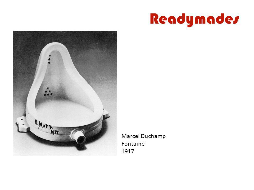Readymades Marcel Duchamp Fontaine 1917