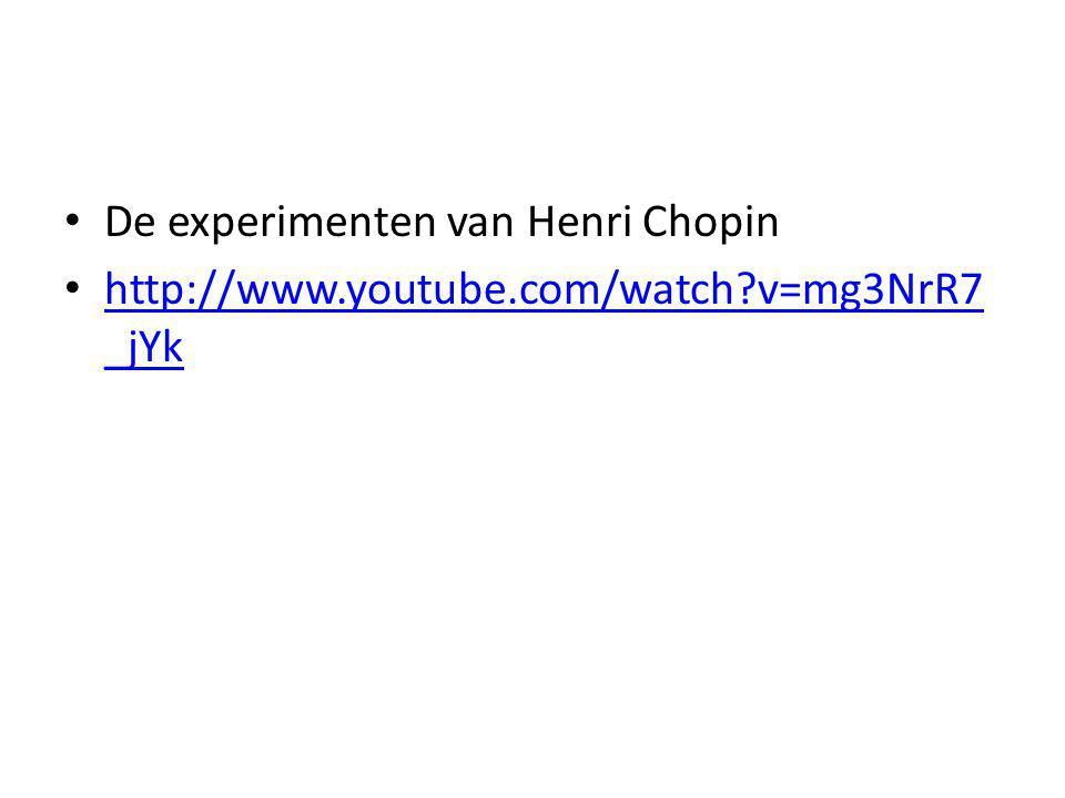 De experimenten van Henri Chopin