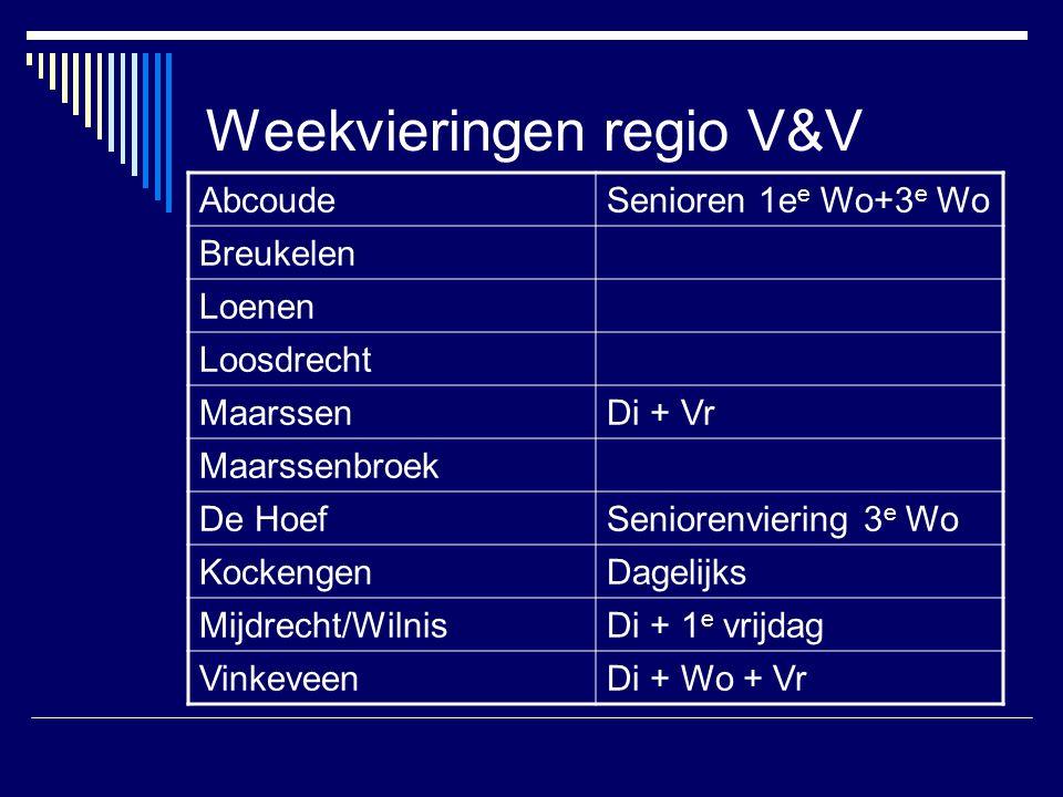 Weekvieringen regio V&V