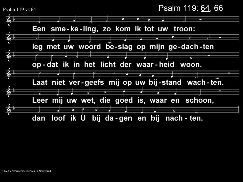 Psalm 119: 64, 66