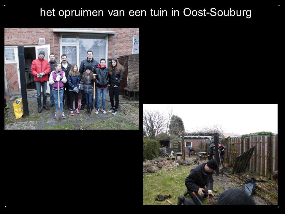 het opruimen van een tuin in Oost-Souburg